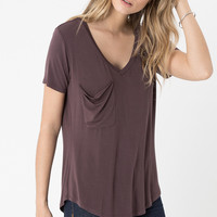 The Jersey Pocket Tee - Raisin
