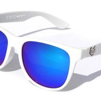 Melting Hearts Sunglasses - Custom Eyes - White - shades, reflective, style, fashion, trendy, love, custom, trendy, eyes, designer