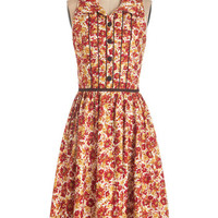 ModCloth Long Sleeveless A-line Cornucopia of Cute Dress