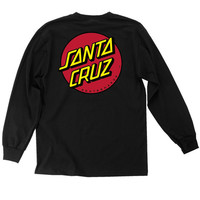 Santa Cruz Classic Dot Long Sleeve T-Shirt - Black