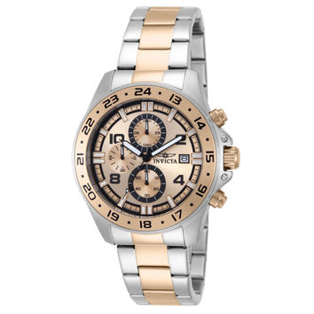 Invicta 13868 Men's Pro Diver Specialty Rose Gold Dial Two Tone Steel Bracelet Chronograph Watch