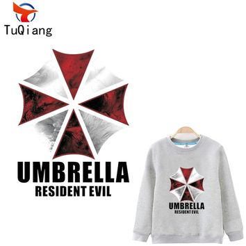 Resident evil umbrella Iron On A-level Patches Heat Transfer Pyrography For DIY T-Shirt Clothing Decoration Printing 32*24CM