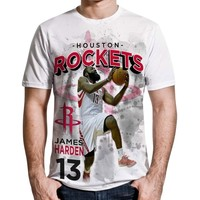 Levelwear James Harden Houston Rockets Center Court Performance T-Shirt - White
