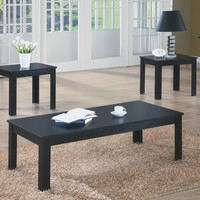 Black 3Pcs Table Set