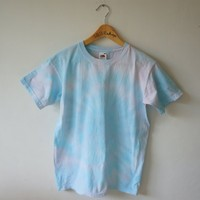 Blue and Pink Tie Dye Tee