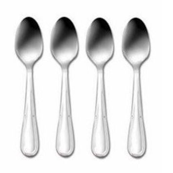 Oneida Becket Silverplate Set of 4 Five O'clock Teaspoons