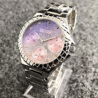 GUESS New fashion diamond dial shining colorful couples watch