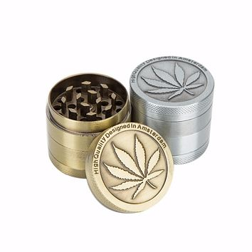 New Type 4 Piece Herb Grinder Tobacco weed Grinder Chicha Shisha Cigarettes Smoke Crusher Hand Muller The Bull Dog