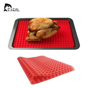FHEAL Pyramid Pan Silicone Non-stick Cake Decorating Tools Fat Reducing BBQ Mat Microwave Oven Baking Tray Kitchen Tool