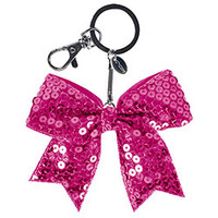 Buy the Solid Sequin Mini Cheer Bow Keychain by Chasse