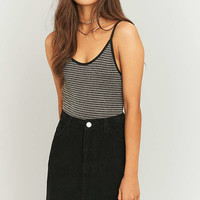 Gold Striped Lurex Bodysuit - Urban Outfitters