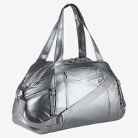 The Nike Victory Gym Club Metallic Duffel Bag.