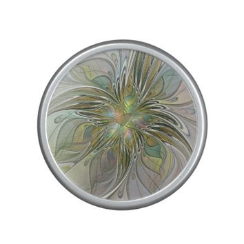 Floral Fantasy, Abstract Fractal Art Speaker