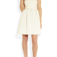 J.Crew | Pearl appliqué cotton dress | NET-A-PORTER.COM