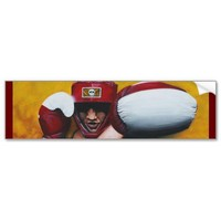 Boxing Art Bumper Sticker from Zazzle.com