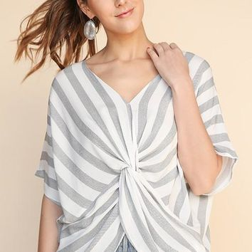 Striped Dolman Top