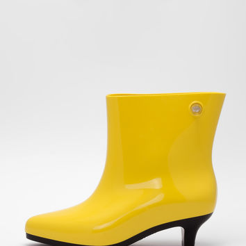 Melissa - Yellow Ankle Boot + Jeremy Scott