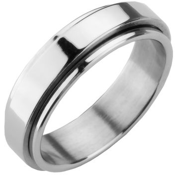 Stainless Steel Spinner Ring Band