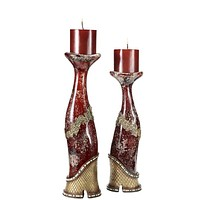 unique red and gold Candleholder