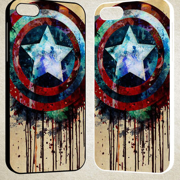 captain america shield art F0155 iPhone 4S 5S 5C 6 6Plus, iPod 4 5, LG G2 G3, Sony Z2 Case