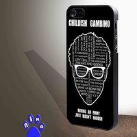 Childish Gambino quotes for iphone 4/4s/5/5s/5c/6/6+, Samsung S3/S4/S5/S6, iPad 2/3/4/Air/Mini, iPod 4/5, Samsung Note 3/4 Case * NP*