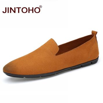 Men Flats Cow Suede Men Casual Shoes Luxury Boat Shoes Adult Male Shoes Summer Moccasins Slip On Men Loafers