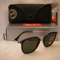 Ray Ban 2448N Black w Green Crystal (G-15) Lens (RB2448N 901)