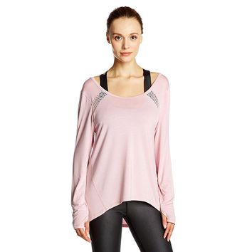 Large size Women Yoga Top Women Yoga Shirts Long Sleeve Gym Shirts Fitness Clothing Shirt Female Sports Tops Women Sport Shirt