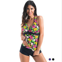 Make Difference 2017 New Floral Tankinis Set Plus Size Women's Swimming Suit Bathing Suits Sexy Printed Two Pieces Swimwears