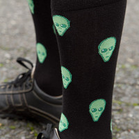Sock Dreams - Aliens Midcalf - Unique Colorful Socks