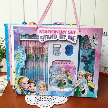 Disney 18 Pcs/Set Cartoon Anime Frozen Stationery Sets For Children Gifts School Supplies Student 18 Pcs Pencil Sets