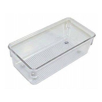 "InterDesign® 52330 Linus Drawer Organizer, 3"" x 6"" x 2"", Clear"