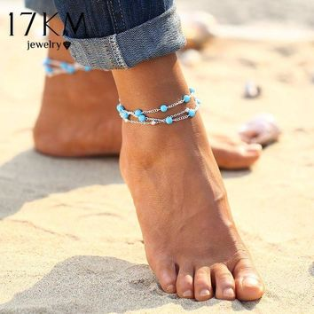 DCCKSV3 17KM 1PCS Multiple Vintage Anklets For Women Bohemian Ankle Bracelet