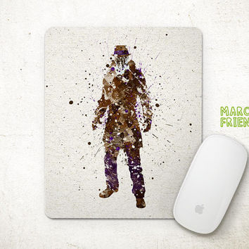Rorschach Watercolor Art, Watchmen Mousepad, Mouse Pad, Office Deco, Holiday Gifts, Art Print, Desk Decor,  Watchmen Accessories