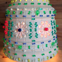 Fun and Funky Hanging Light by Lawnware, RV Camping Lantern, Plastic Flower Pot Lantern, Lite Brite Hanging Pendant Lamp, Garden Patio Light