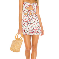 Tularosa Anna Dress in Red Dolly Floral | REVOLVE