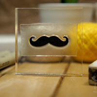 Hipster Rubber Stamp Moustache - 2x2 Inches