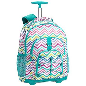Gear-Up Multi Chevron Print Rolling Backpack