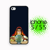 Crystal Ball  iPhone 5S Case | iPhone 5  Plastic or Rubber Hard Case White or Black Vintage Image