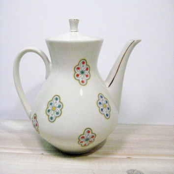 Vintage Tea Pot Winterling Bavaria Porcelain Mid Century Mod Teapot