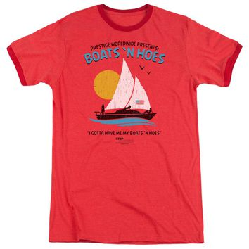 Step Brothers Ringer T-Shirt Boats N Hoes Red Tee