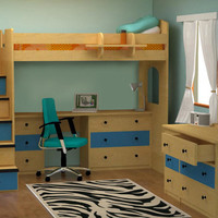 Alameda Full Size Stairway Loft Bed