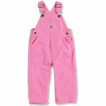 Carhartt® Infant Girls' Bib Overalls, Rosebloom Pink