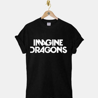 Imagine Dragons DTG ScreenPrint 100% pre-shrunk cotton for t shirt mens and t shirt woman at kahitna
