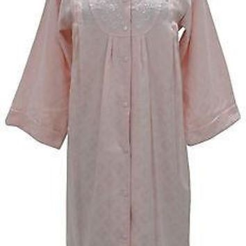 Miss Elaine Snap Buttons Front Woven Jacquard Robe 851702