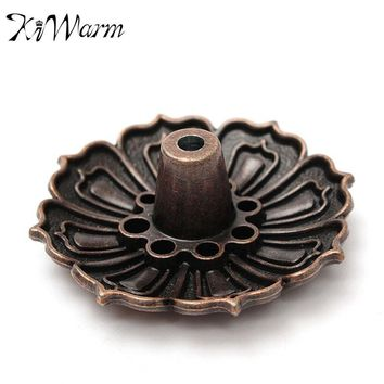 Lotus Shape Metal Incense Plate Burner Holder Stick or Cone Incense