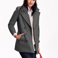 Old Navy Womens Long Classic Pea Coat