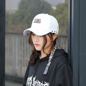 Trendy Winter Jacket Korean Style Fashion Novelty letter Caps For Men Women Casquette 2018 Ulzzang Harajuku Ribbon Baseball Cap Casual Snapback Hat AT_92_12