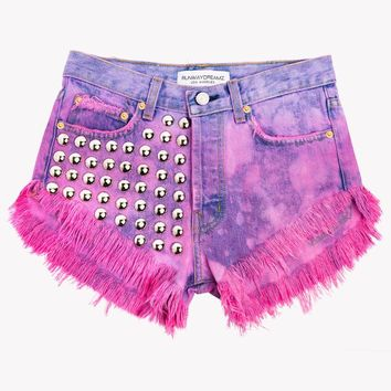 Treasure Lush Clouds Studded High Waist Shorts