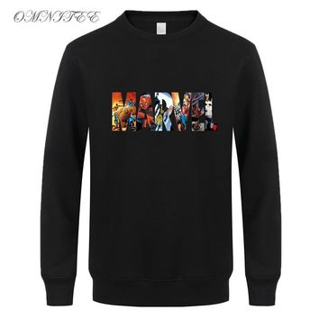 New Super Hero Marvel Sweatshirts Fashion Cotton Men Hoodies Marvel Avergers Cool Printed Sweatshirts Men Clothing FreeShipping